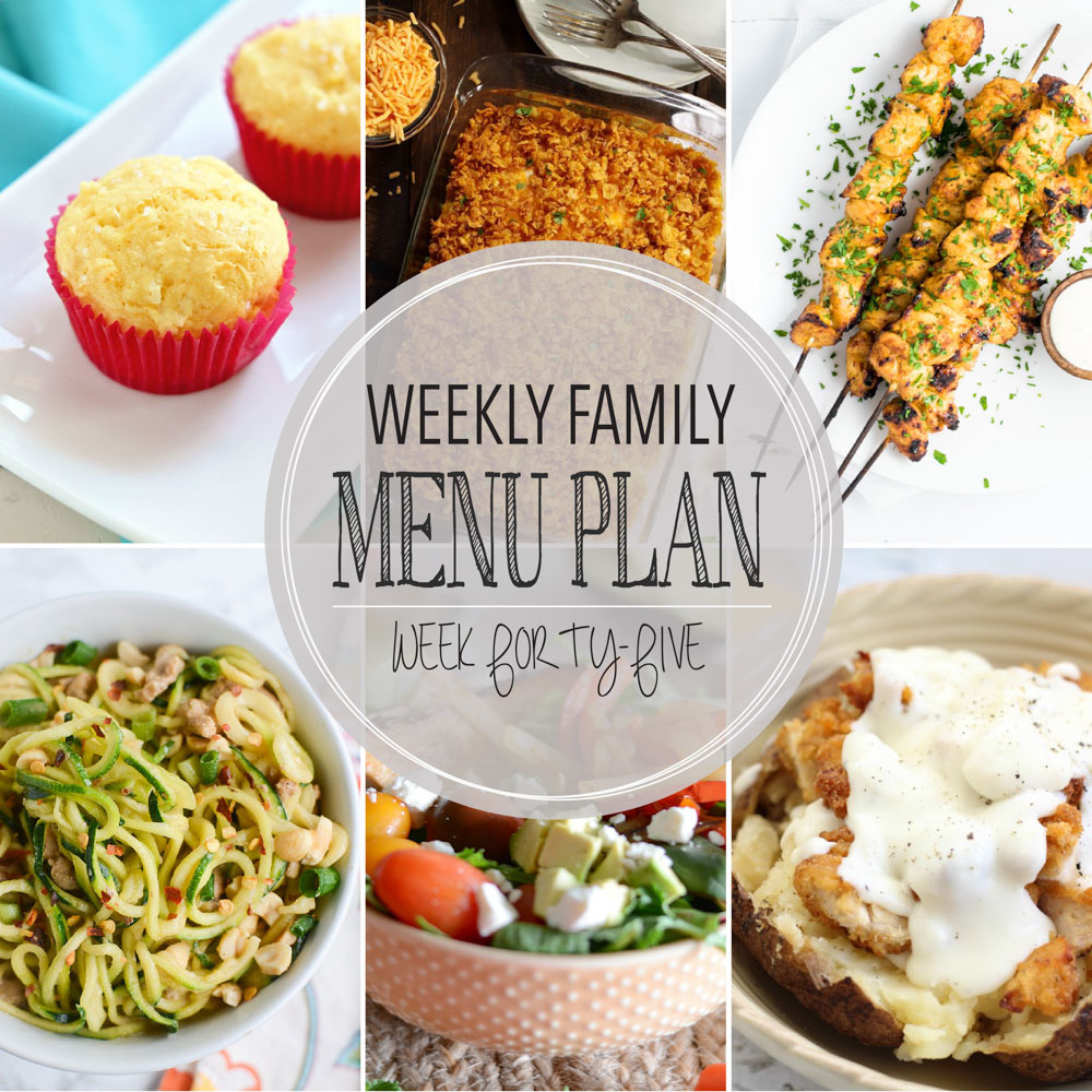 Weekly Family Menu Plan – Week Forty-Five