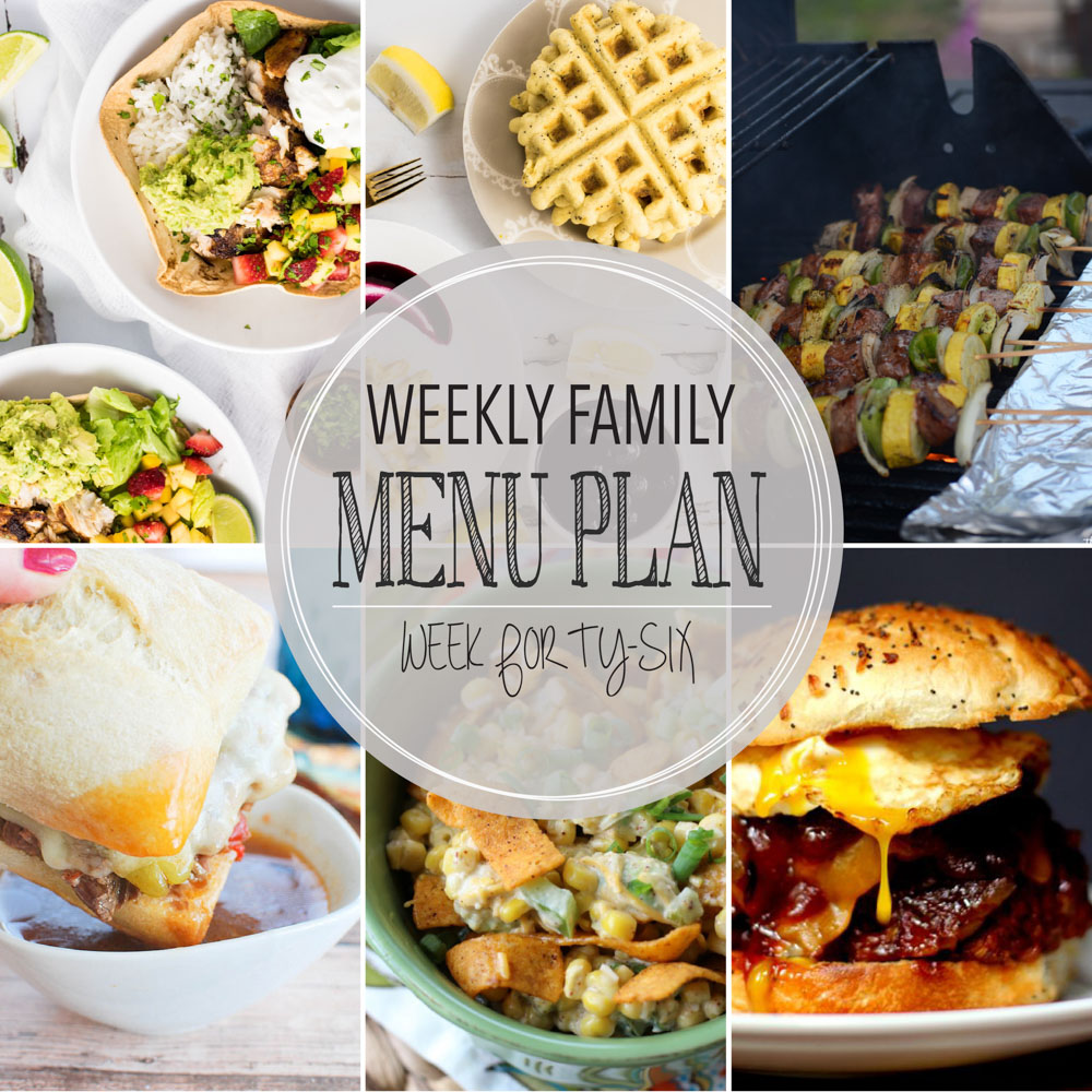 Weekly Family Menu Plan – Week Forty-Six