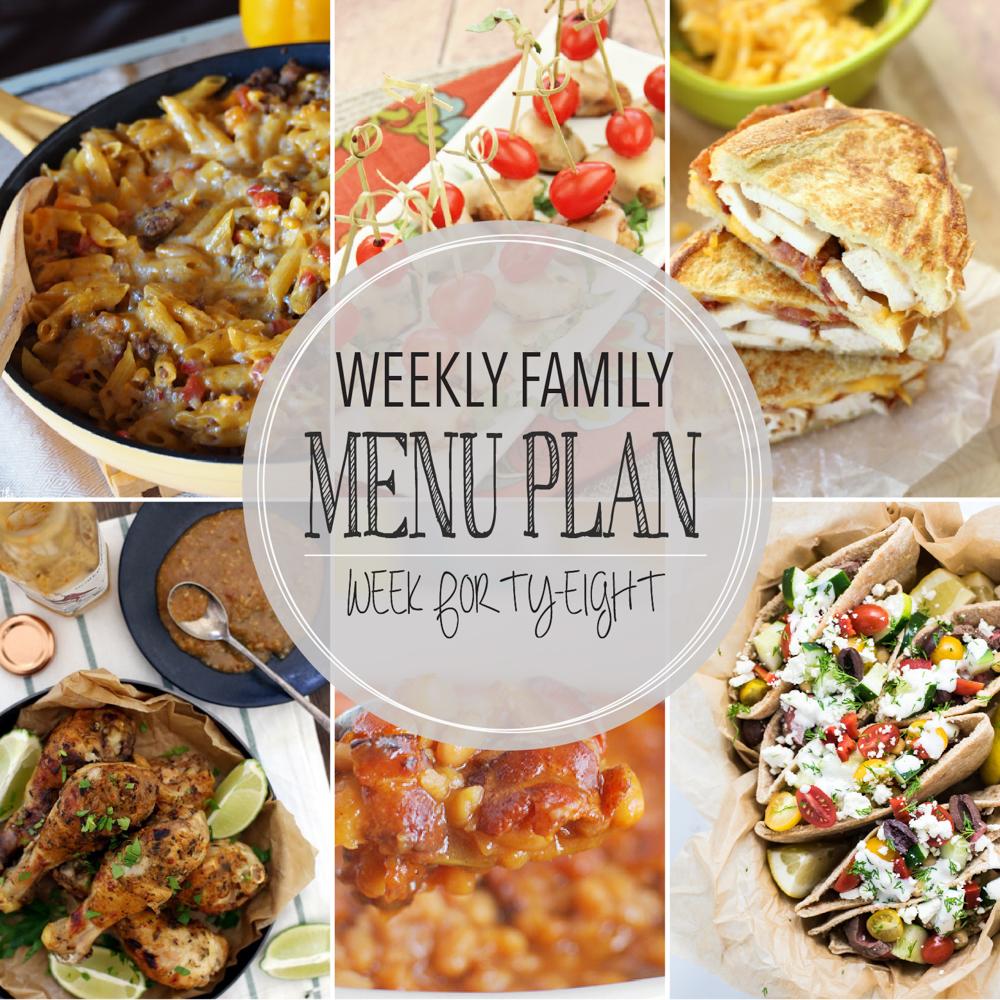 Weekly Family Menu Plan – Week Forty-Eight