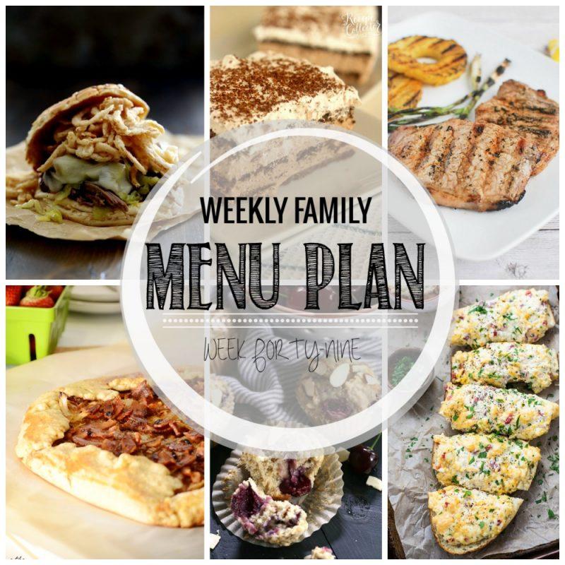 Weekly Family Menu Plan – Week Forty-Nine