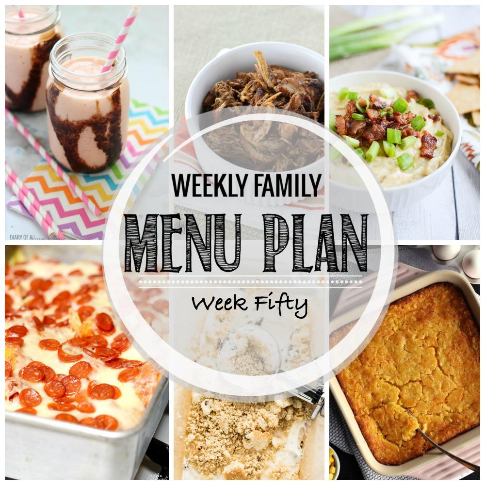 Weekly Family Menu Plan – Week Fifty