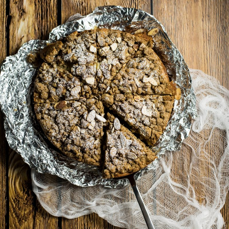 Chai Spiced Pear Coffee Cake