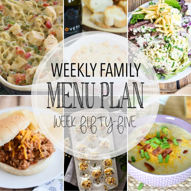 Weekly Family Menu Plan – Week Fifty-Five