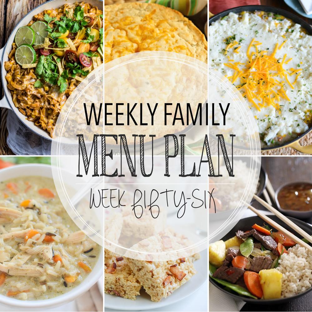 Weekly Family Menu Plan – Week Fifty-Six