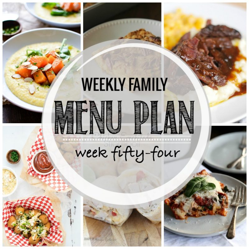 Weekly Family Menu Plan – Week Fifty-Four