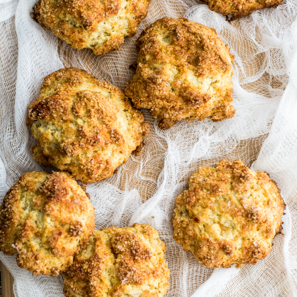 Apple Cheddar Scones with a Crusty Paprika Topping