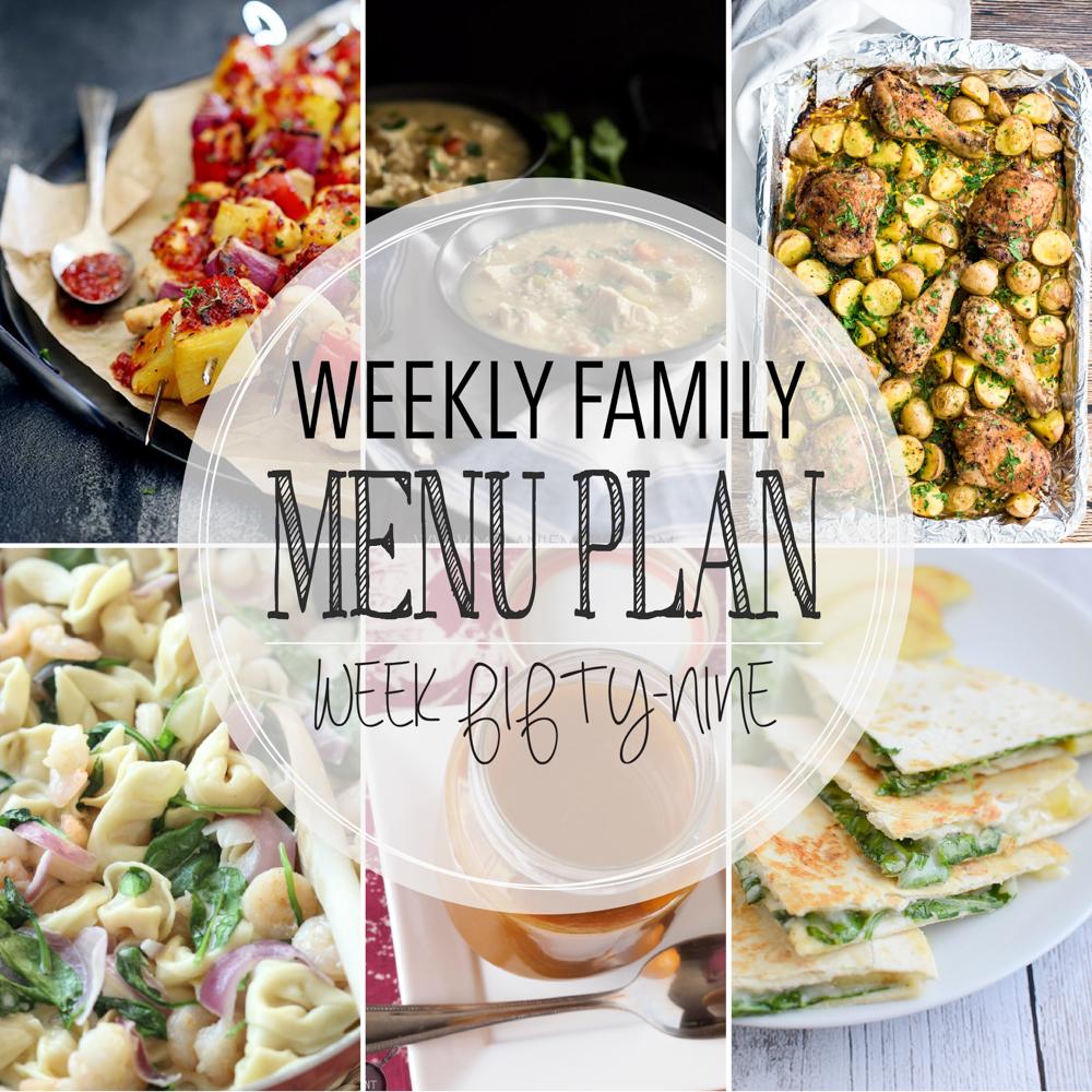 Weekly Family Menu Plan – Week Fifty-Nine