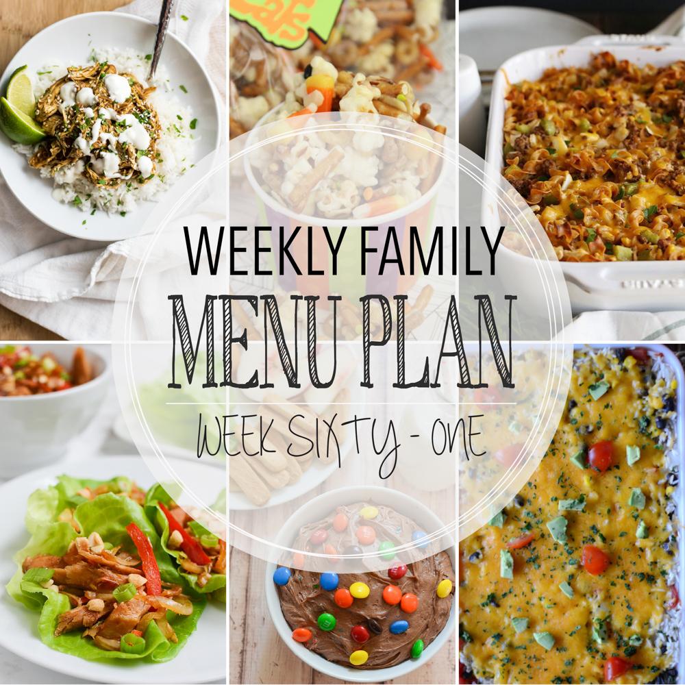 Weekly Family Menu Plan – Week Sixty-One