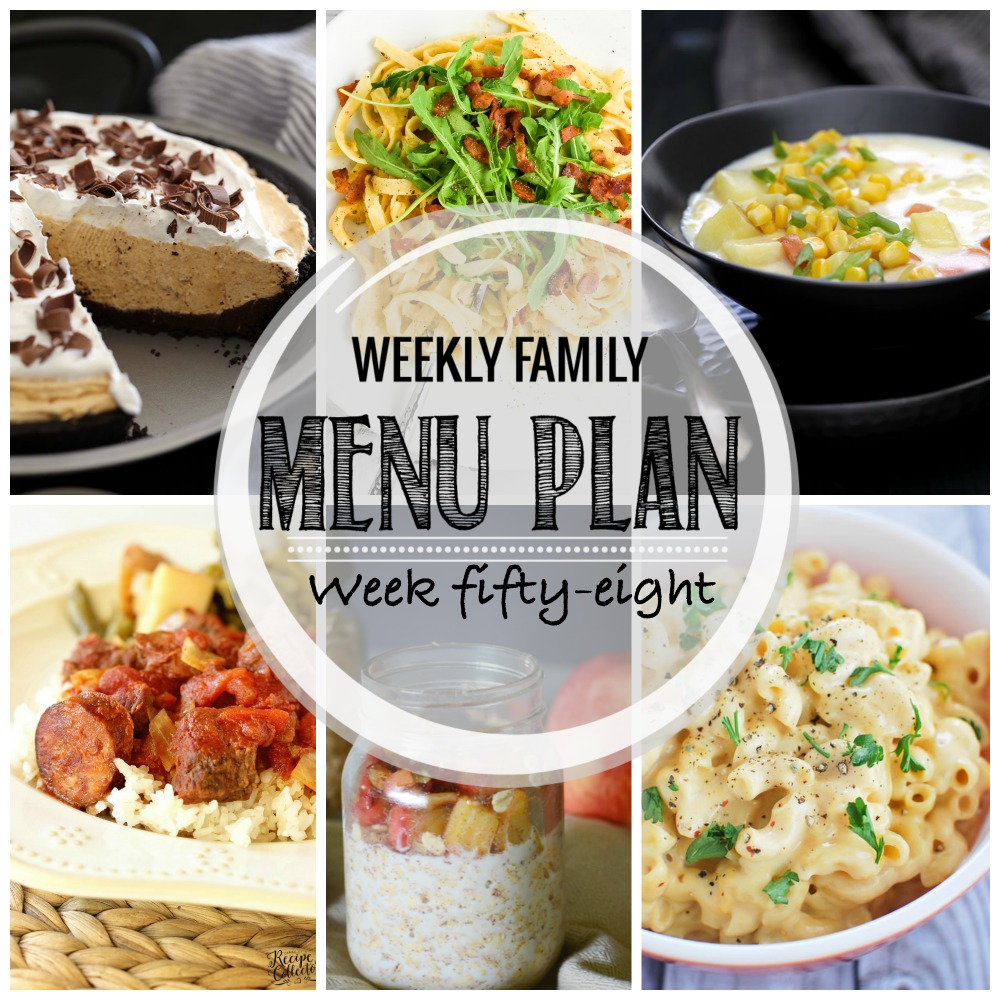 Weekly Family Menu Plan – Week Fifty-Eight
