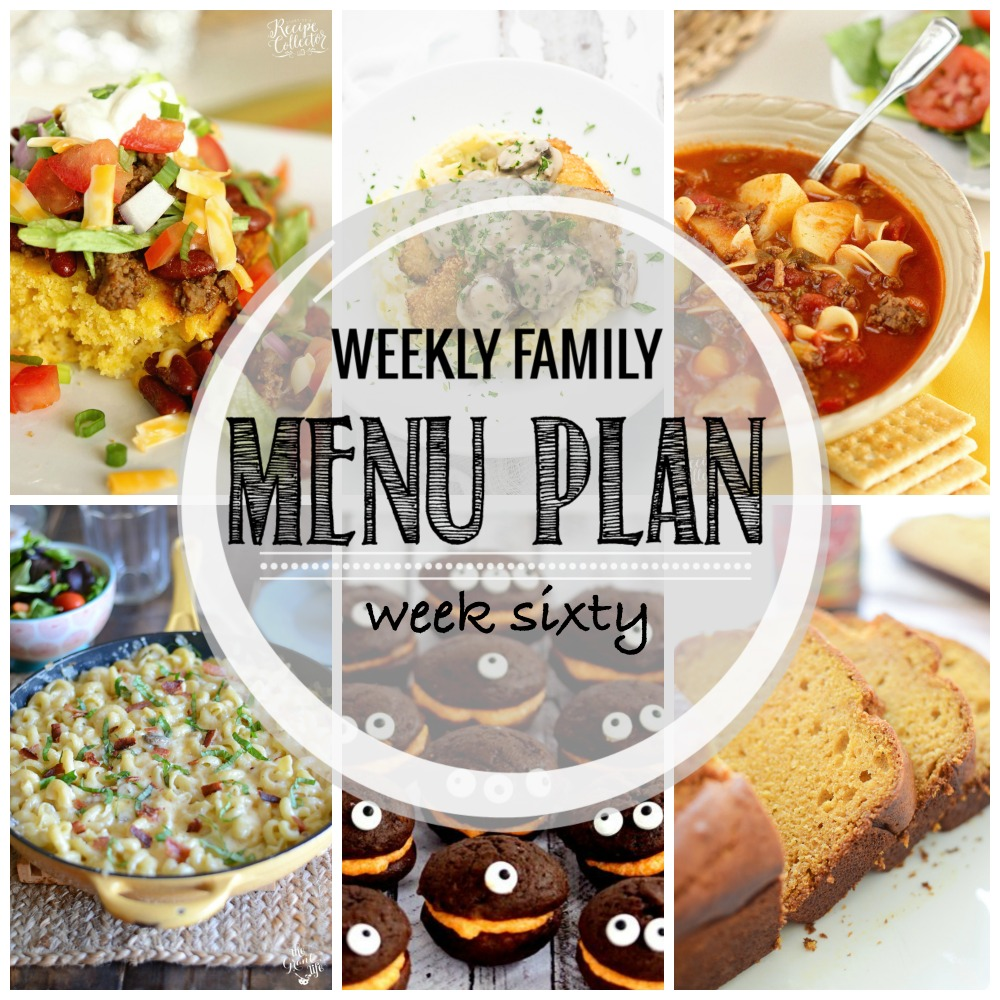 Weekly Family Menu Plan – Week Sixty
