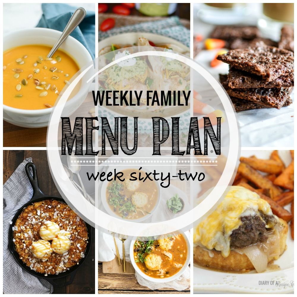 Weekly Family Menu Plan – Week Sixty-Two
