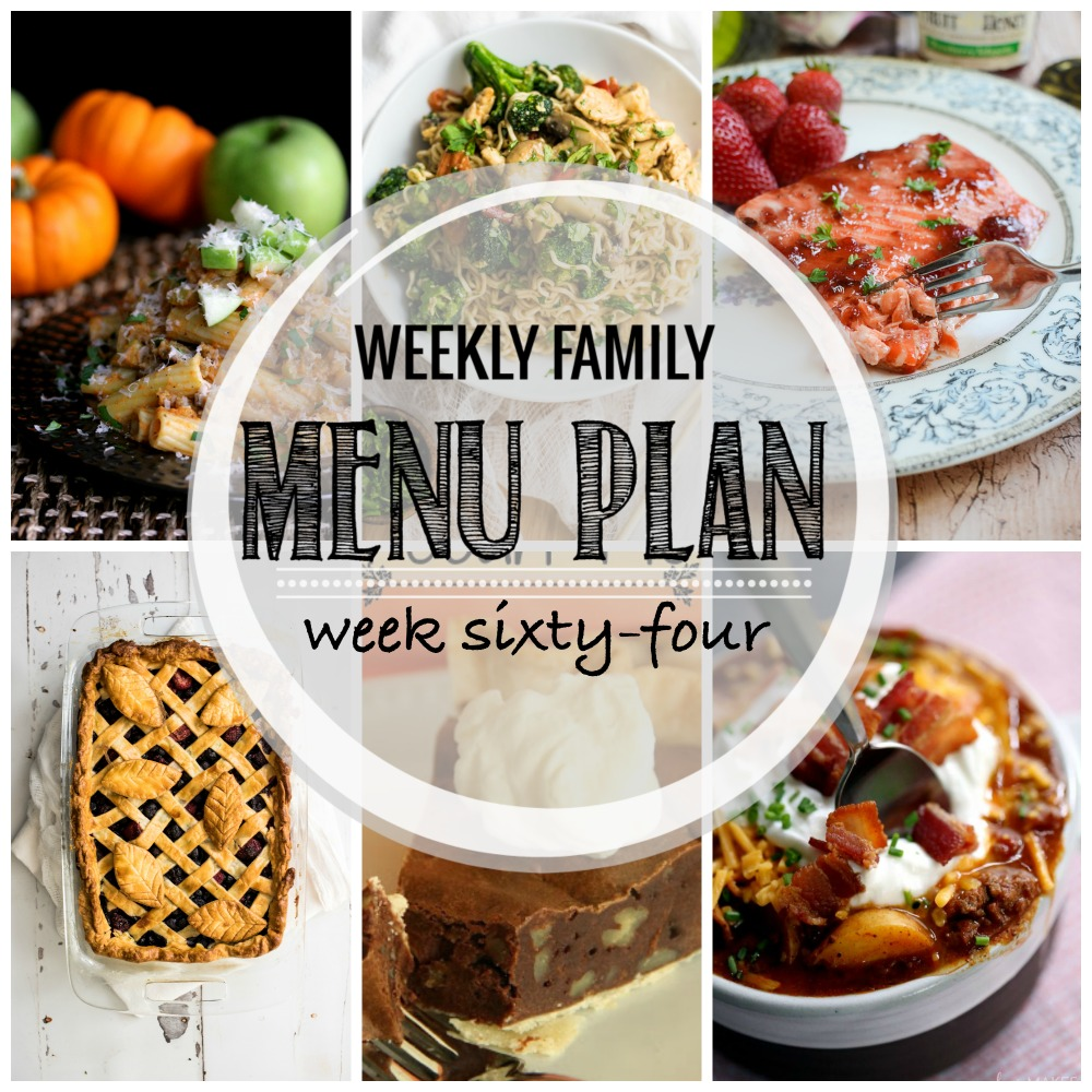 Weekly Family Menu Plan – Week Sixty-Four