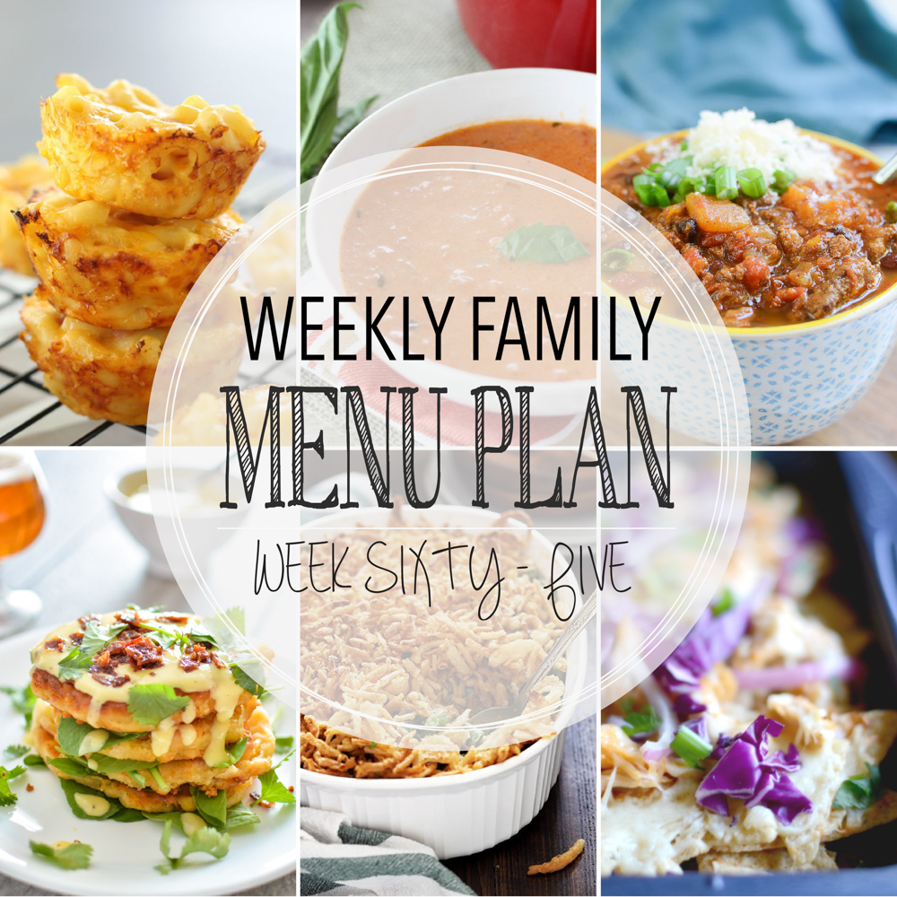 Weekly Family Menu Plan – Week Sixty-Five
