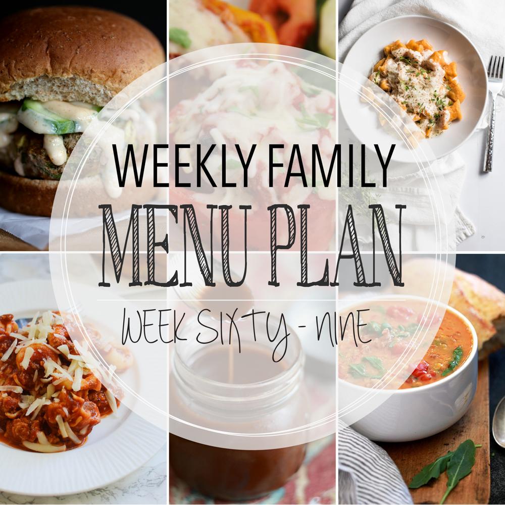 Weekly Family Menu Plan – Week Sixty-Nine