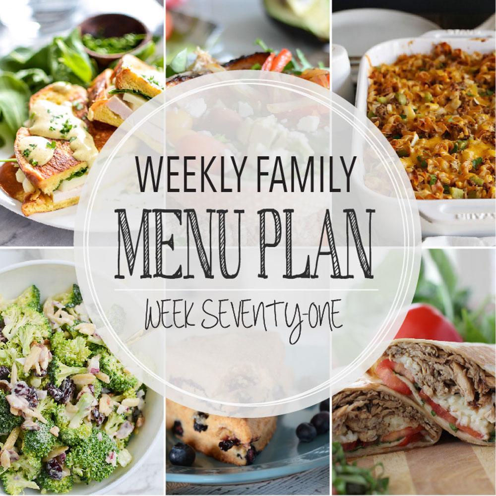 Weekly Family Menu Plan – Week Seventy-One