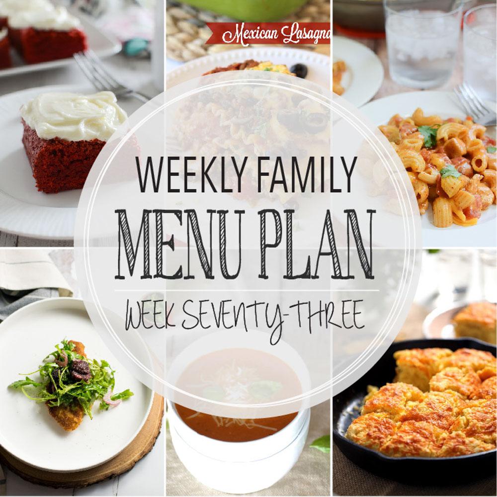 Weekly Family Menu Plan – Week Seventy-Three