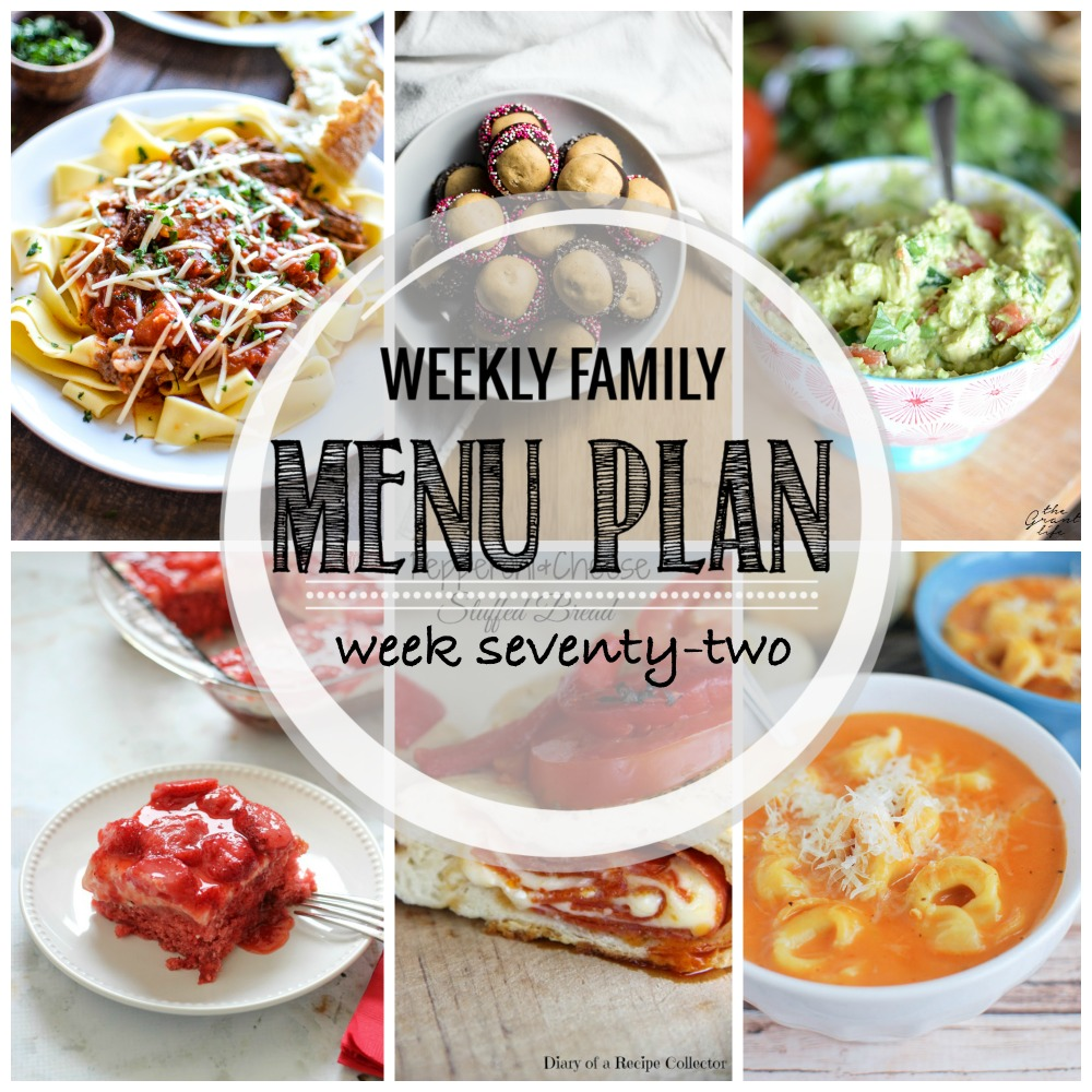 Weekly Family Menu Plan – Week Seventy-Two