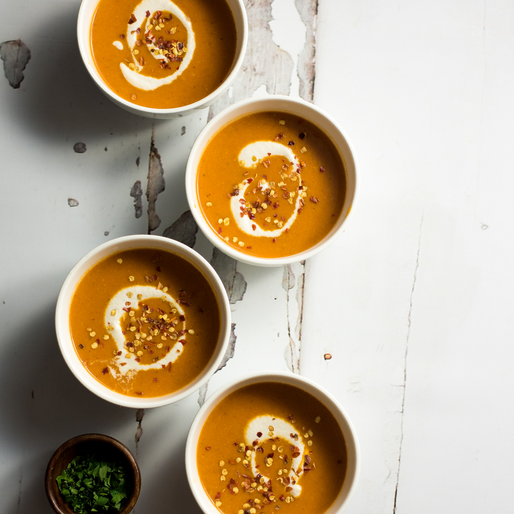 Creamy Cashew and Curried Tomato Soup