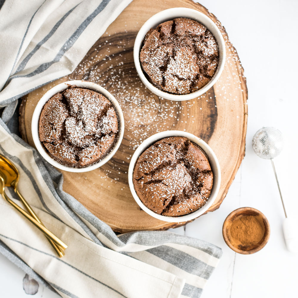 Easy Cinnamon Chocolate Soufflés