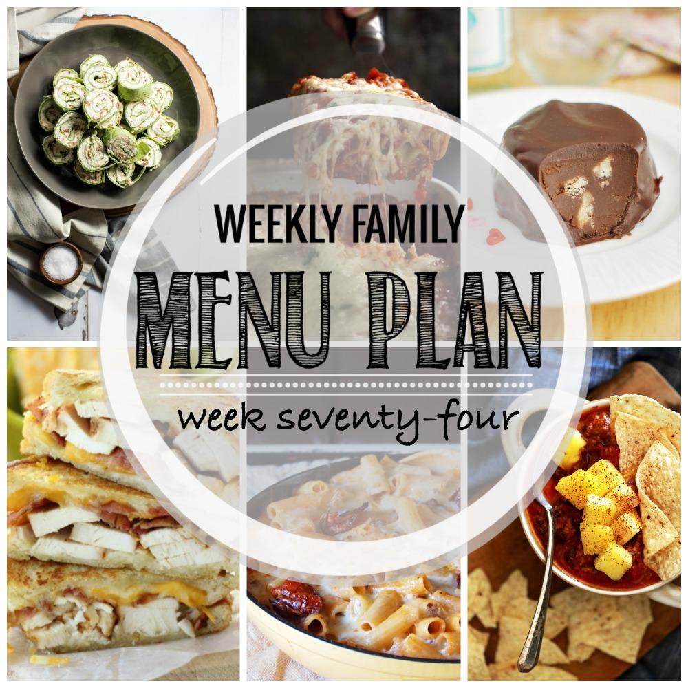 Weekly Family Menu Plan – Week Seventy-Four