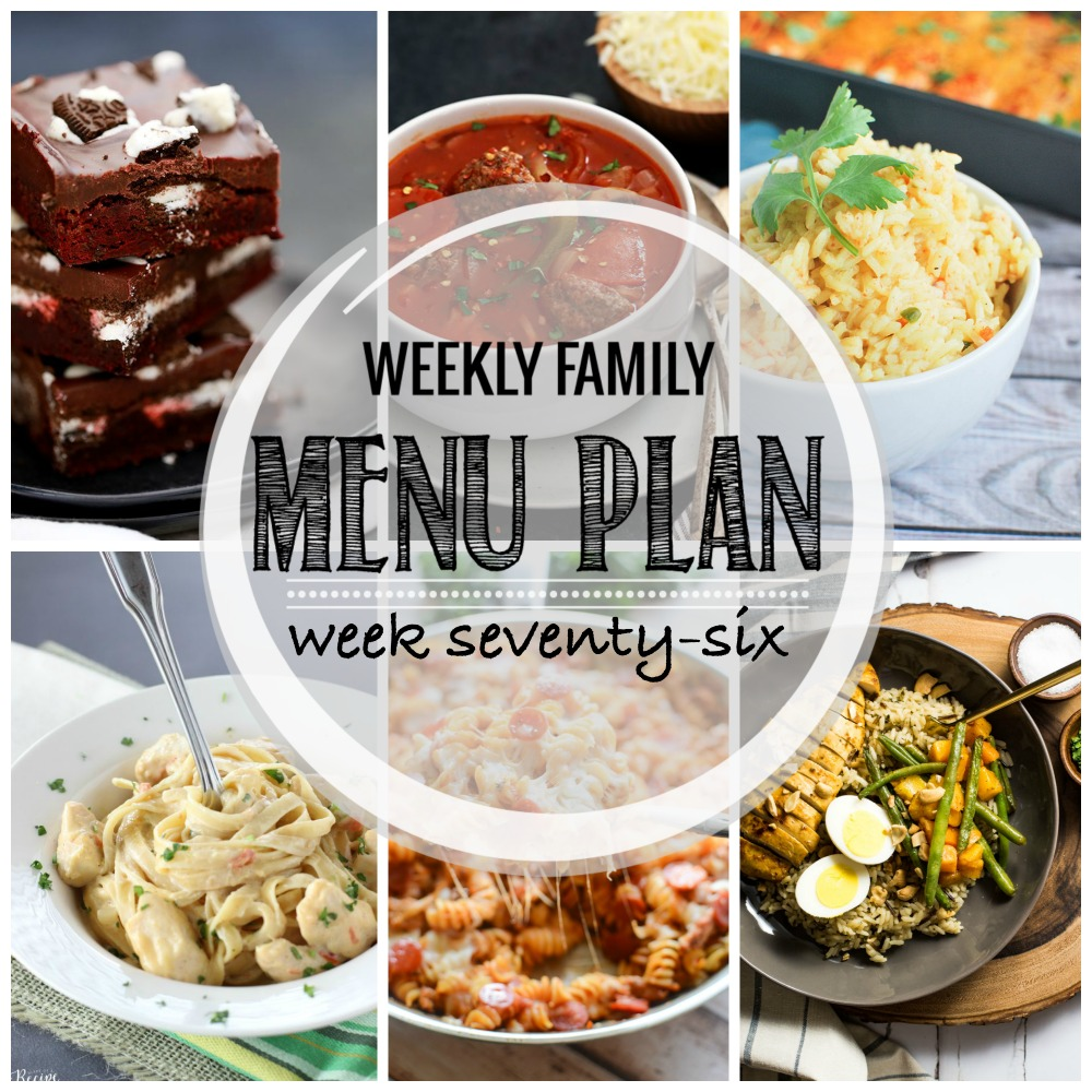 Weekly Family Menu Plan – Week Seventy-Six