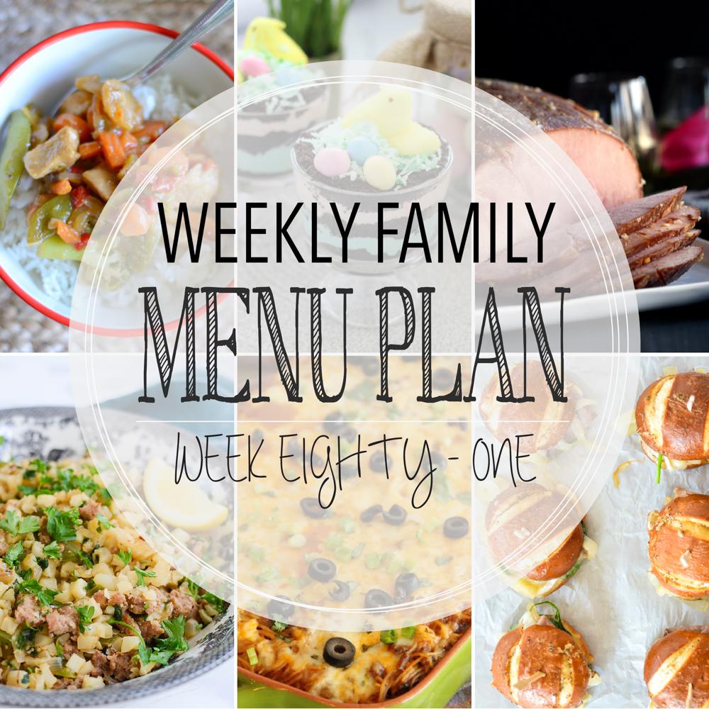 Weekly Family Menu Plan – Week Eighty-One