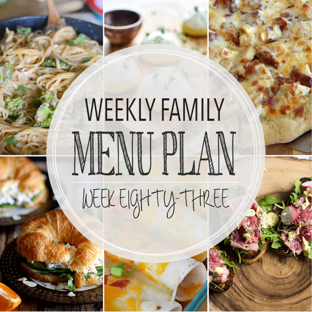 Weekly Family Menu Plan – Week Eighty-Three