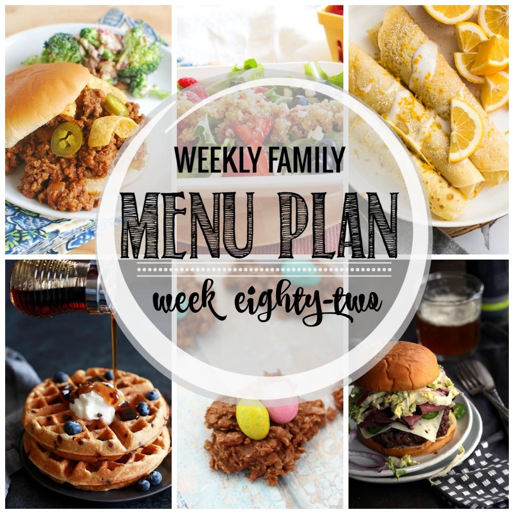 Weekly Family Menu Plan – Week Eighty-Two